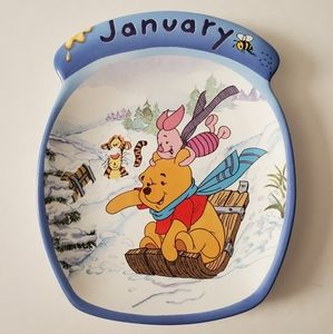 Winnie the Pooh January plate Whole Year Through